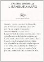 sangue amaro: libro di Valerio Magrelli